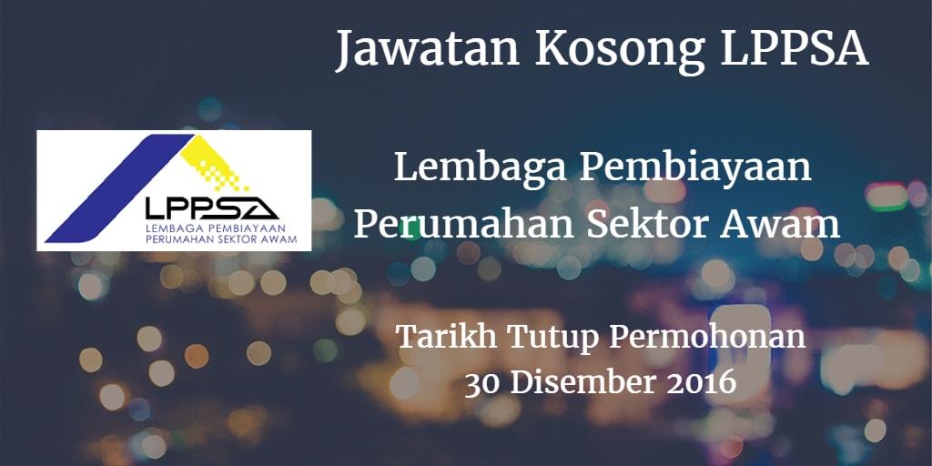 Jawatan Kosong LPPSA 30 Disember 2016