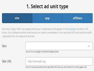 Select Ad unit type