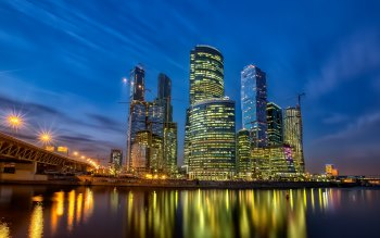 Wallpaper: City Moscow Skyscrapers Architecture