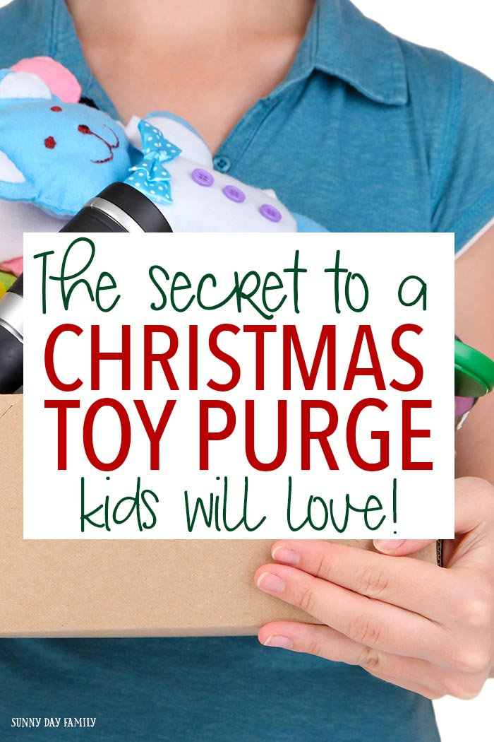 Need to clean out your kids toys before Christmas? This genius idea will make your kids WANT to give away their toys! Love how this mom encouraged giving in her kids (and got her playroom clean at the same time). It works!