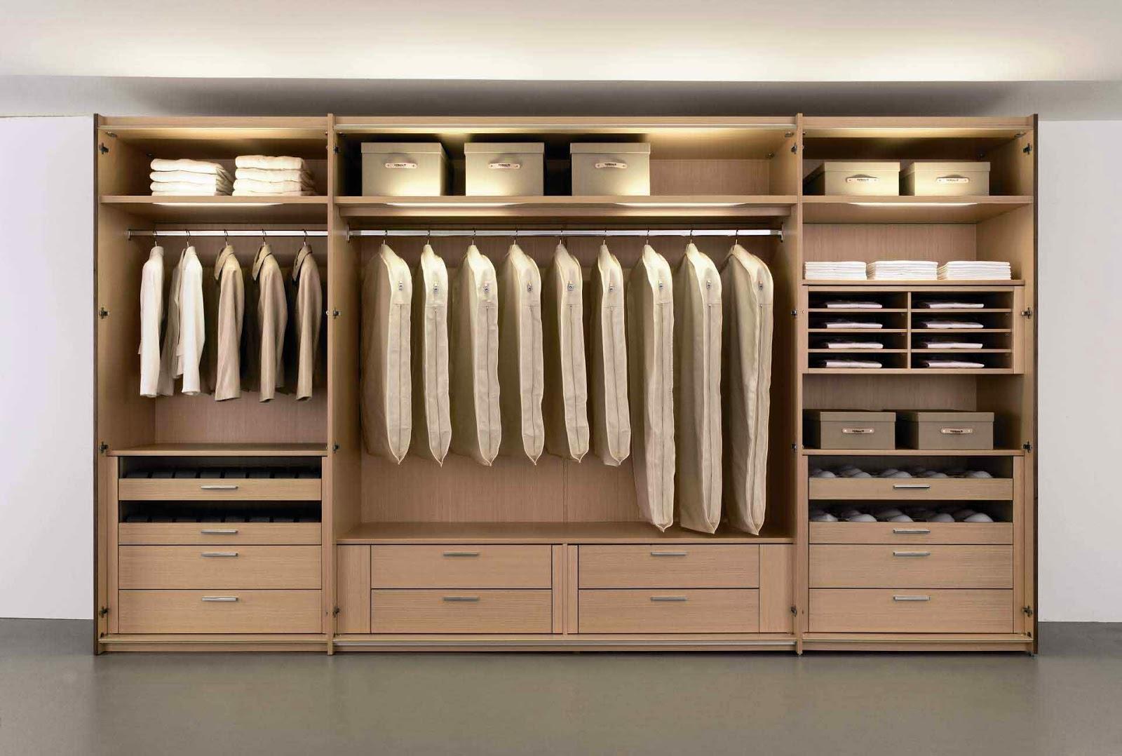 Desain Lemari pakaian dan Rak Aksesoris Minimalis | Rumah ...