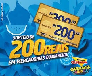 Participar promoção Supermercados Guanabara 2016