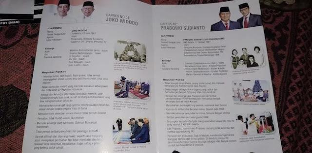 """Pendukung Prabowo: Brosur """"Rekam Jejak Capres"""" Tidak Sesuai Fakta"""