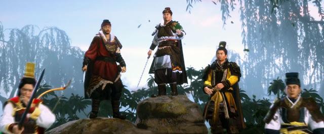 ในภาพนี้ คาดว่าน่าจะเป็นตัวละครหลักฝ่ายง่อ ซุนเกี๋ยน ซุนเซ็ก ซุนกวน จิวยี่ และ โลซก