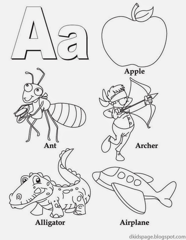 Printable Worksheets the grasshopper and the ant worksheets : Kids Page: Letter A | Alphabet Letters Printable Worksheet for Kids