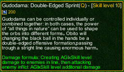 naruto castle defense 6.0 Gudodama: Double-Edged Sprint detail