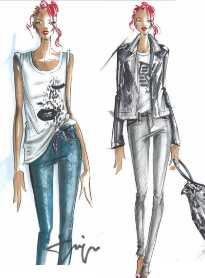 How To Draw Croqui Croqui Models Fashion Sketches Step By Step Process Of Making Croqui