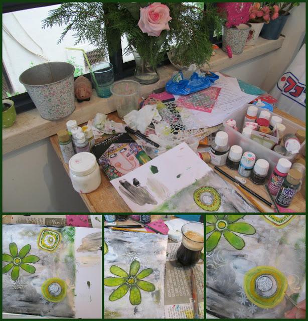 art journal,mixed media,hilla bushari,fimo,polymer clay,