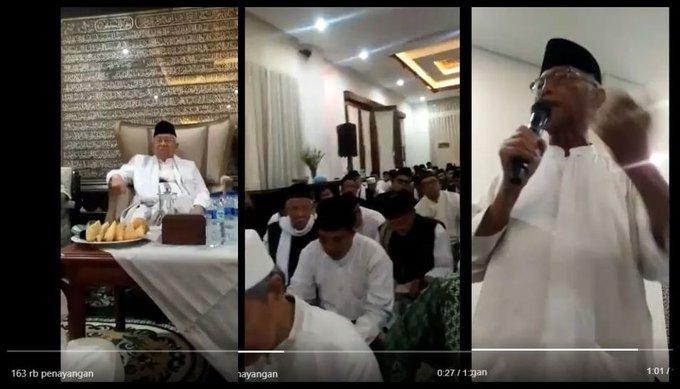 "Cawapres Ma'ruf dan Bisik-Bisik Busana Putih: ""Jokowi Tak Terpilih, NU Jadi Fosil"""