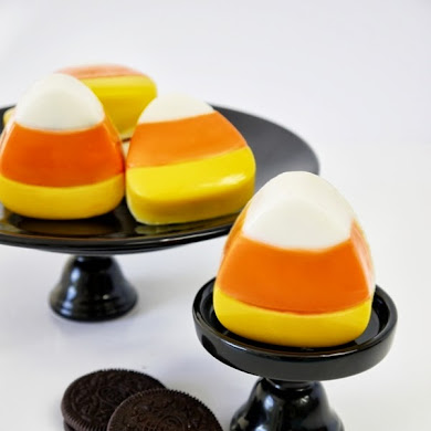 DIY Candy Corn Halloween Oreo Cookies Recipe