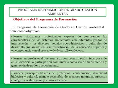 Objetivos Del Programa Gestión Ambiental
