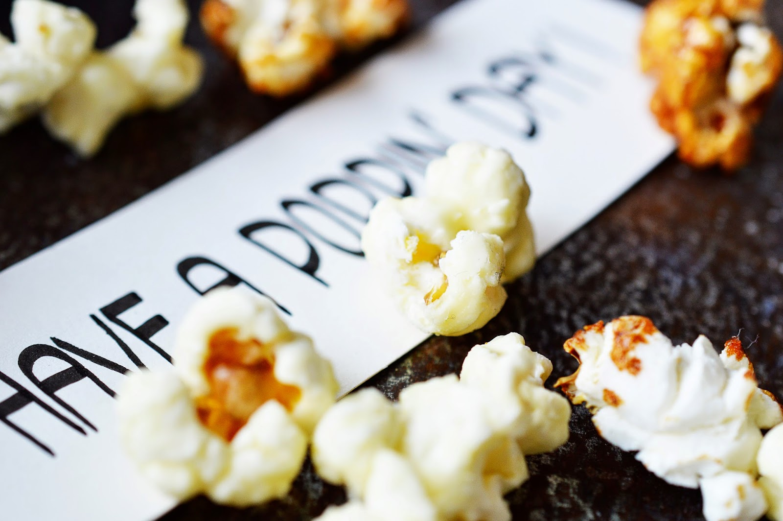 Salted Caramel & White Chocolate Popcorn Recipe | Motte's Blog