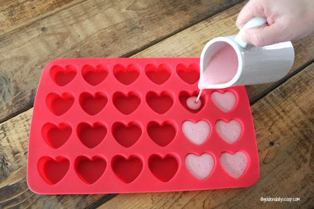 diy healthy homemade strawberry and banana heart dog treats