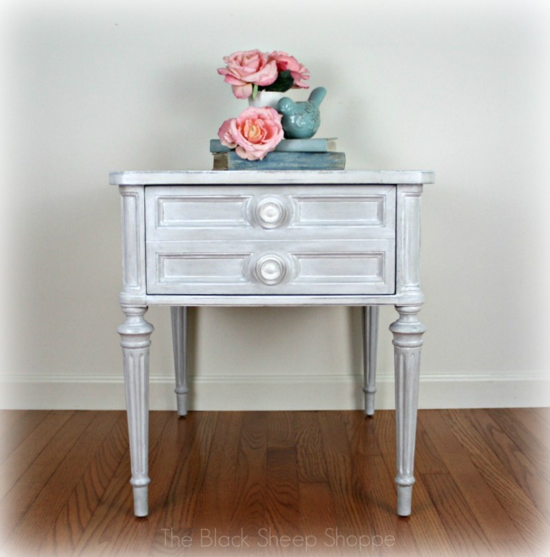 Drexel Classic Treasury end table painted by The Black Sheep Shoppe