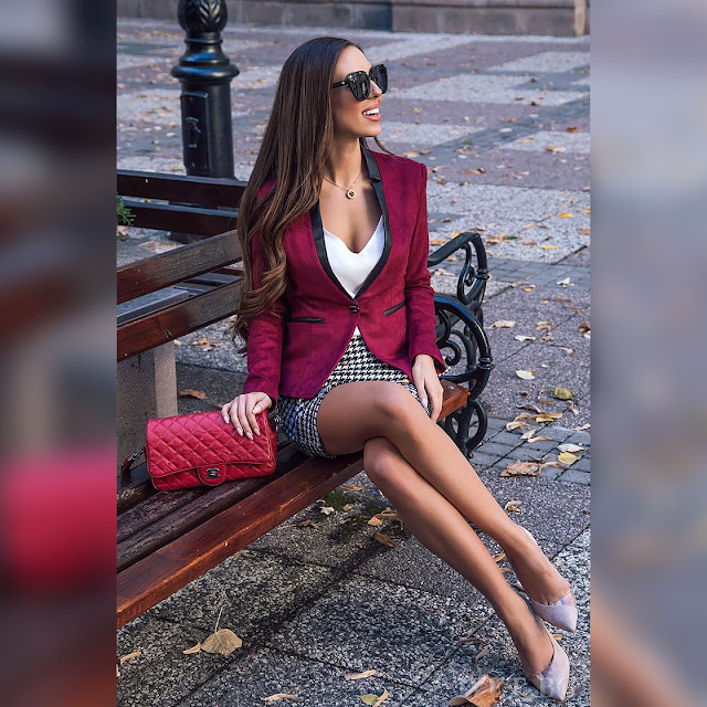 Γυναικείο μπορντό σακάκι TEMIDA BORDO