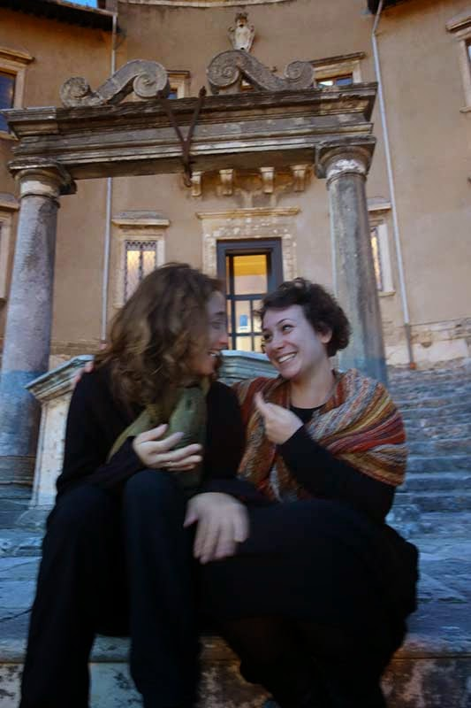 Com as amigas no Museu de Palestrina