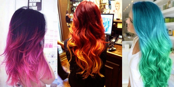 A Month In Hair Colors Today Vivid Ombre Hairstyles