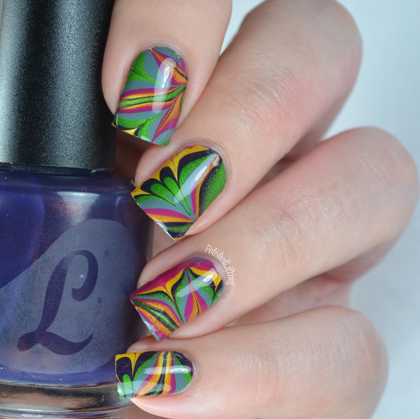 Polished lifting lou it yourself fallfetti collection nail art nail art water marble nail art solutioingenieria Image collections