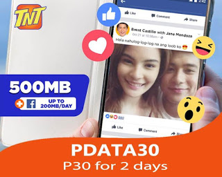 TNT PDATA30 – Panalo Data 30 Pesos Internet Promo + Free Facebook
