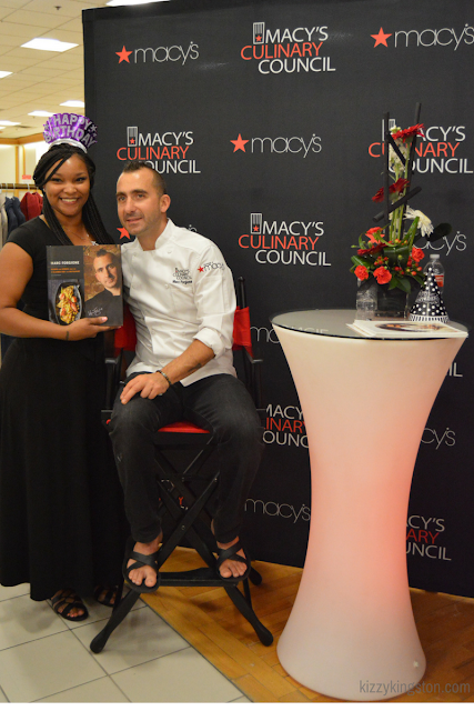 Chef Marc Forgione with guest at Macy's Culinary Council Event