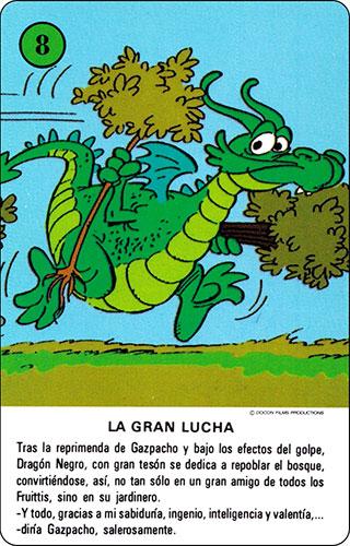 Baraja Los Fruittis Carta verde 8