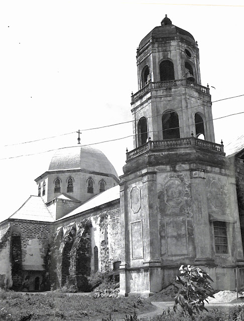 View of Cathedral of Batangas, Batangas Province.  Taken 10 November 1945.