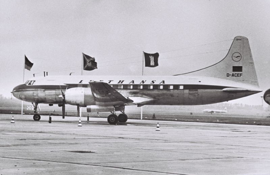 Lufthansa first flight from Hamburg 1955