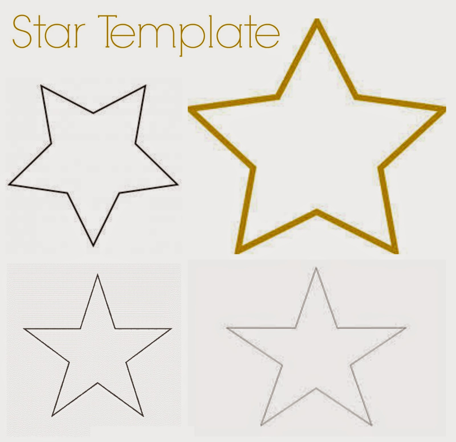 Template To Make A Star 3
