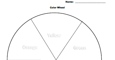 No Corner Suns: Easy first grade color wheel coloring page