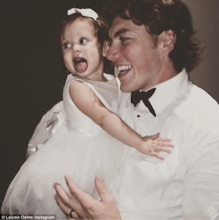 Oshie And His Daughter Lyla On His Wedding Day