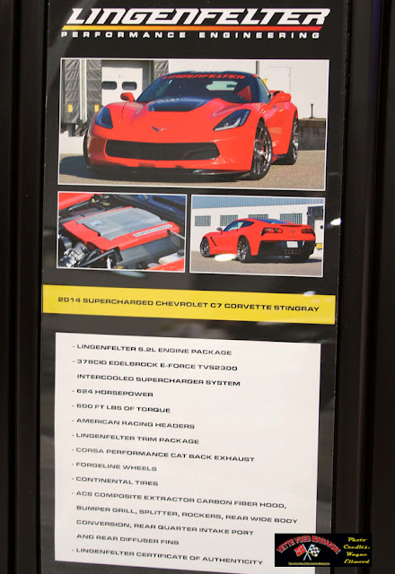 The 2014 Supercharged Chevrolet C7 Corvette Stingray with the Lingenfelter engine package specifications.
