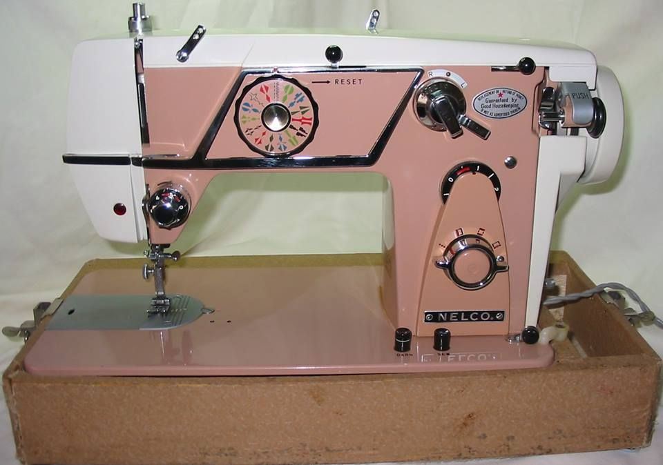 Grant Gray's favorite vintage sewing machine, the Nelco R-2000.
