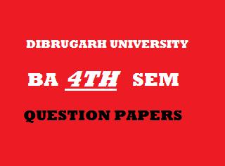 Dibrugarh University Arts Question Papers:EDUCATION (Major