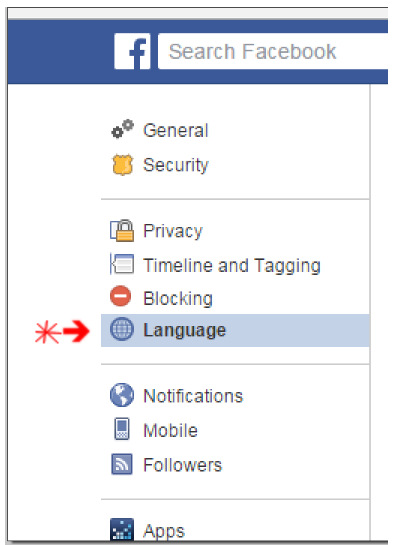 How to Change Facebook Language Back to English
