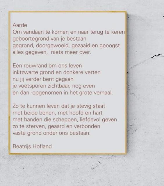 Gedicht afscheid rouw Beatrijs Hofland