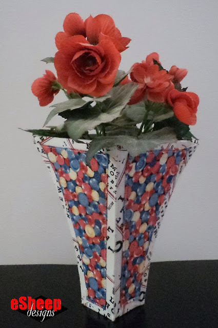 Dimensional Fabric Pieced Vase by eSheep Designs