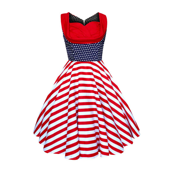 0c2ae289ed5 This dress absolutely screams Independence Day!! I love the Lady Mayra Elsa  dress