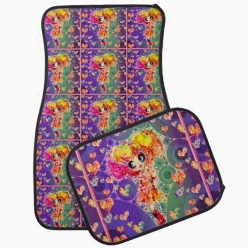 girl car floor mats rainbow