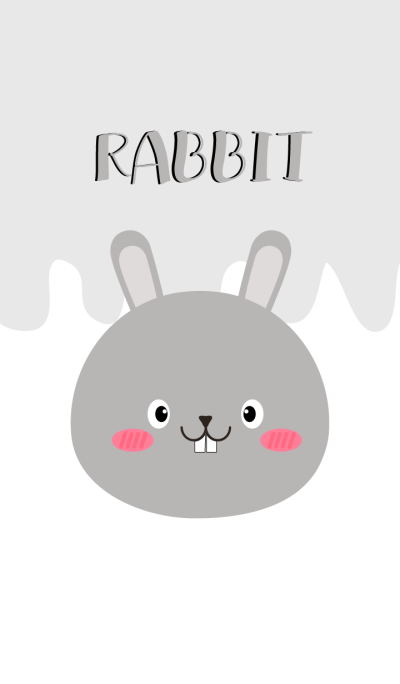 Simple Pretty Gray Rabbit Theme