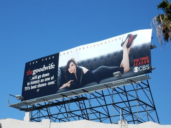 Good Wife final season Emmy billboard
