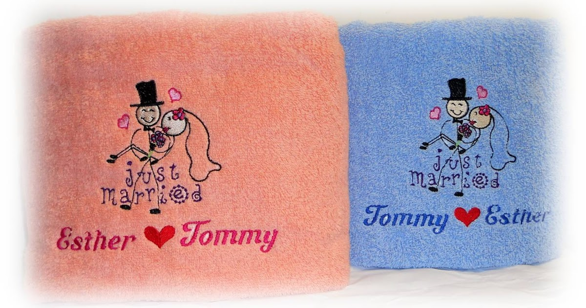 Wedding Gift Towels: Personalized Gifts : Towels, Cushions