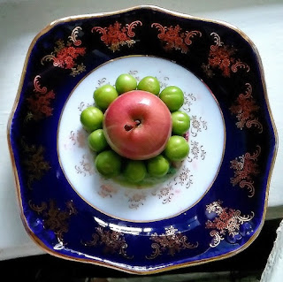apple and green plum photo