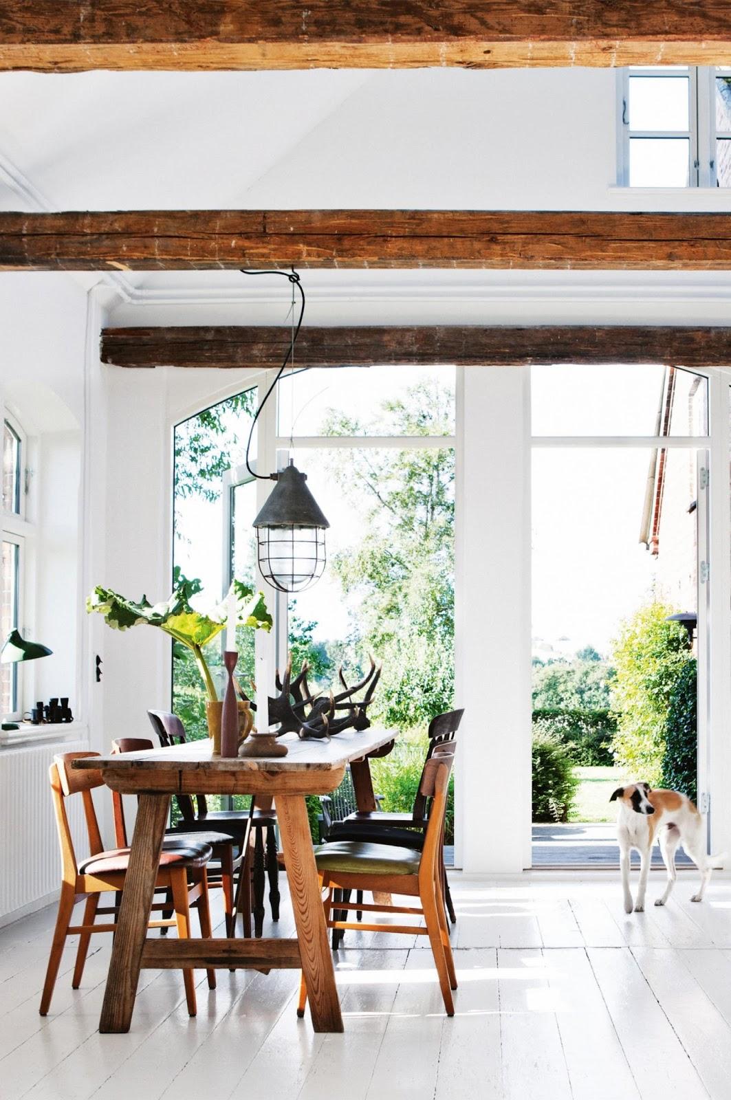 decordemon: Fascinating Danish country house in black & white