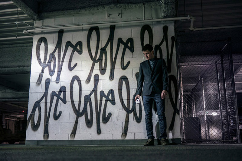 Curtis Kulig Love Me graffiti