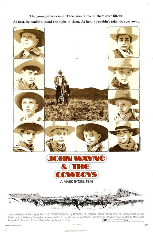 John Wayne The Cowboys poster