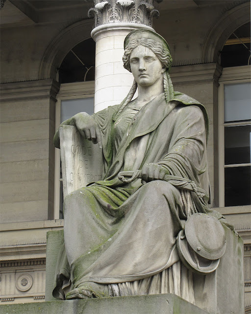 La Justice Consulaire by Francisque Duret, Palais Brongniart, Place de la Bourse, Paris