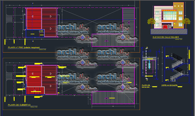 Hotel Bulnes 3 Floors freecad Dwg