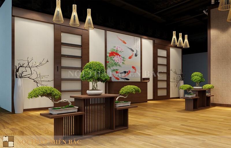 Thiết kế nhà hàng Nhật không gian hành lang mở