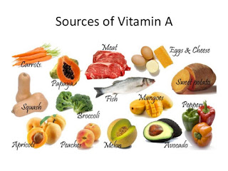 Fruits - vegetables contain lots of vitamin A