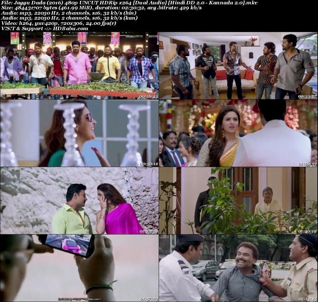Jaggu Dada (2016) 480p UNCUT HDRip x264 [Dual Audio] [Hindi - Kannada] Screenshot